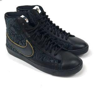 New Nike Blazer Mid Metallic Gold Sneakers Sz 6